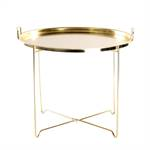 "Sofa table ""ORIENTAL"" | metal, gold coloured | livingroom table"