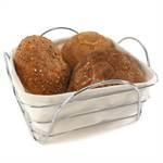 "Bread basket ""CURVE"" | with fabric, 20x20 cm | bread bin"