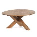 """Sofa table """"RUSTIQUE""""   Ø 80 cm, recycled wood   living room table"""