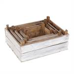 "4 Pcs Decoration boxes ""YARD"" | nature white, wood | wine boxes"