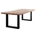 Massivholz Esstisch ESCHE   geölt, U-Profil, 220x100cm   Küchentisch