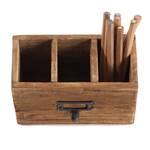 "Pencil case ""BOX 18""   recycled wood, 19x12 cm (WxH)   desk organiser"