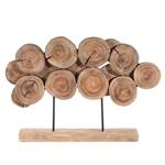 "Design Skulptur ""FOSTER"" | 60x40 cm, Mango Holz | Dekofigur"