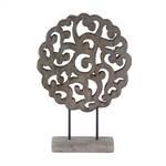 "Design skulpture ""PATTERN OF LIFE"" | 45 cm, wood | decoration figure"