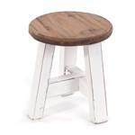"Stool ""BERNE""   round, 23,5x20,5cm (HxW), recycled wood   decoration"