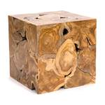 "Tree trunk table ""SQUARE 45"" | 45x45x45cm, teak | side table"