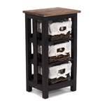 "Chest of drawers ""RATTAN"" | wood, 70x39x29cm (HxWxD) | bathroom shelf"