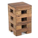 """Design stool """"BRICK""""   48x29cm (HxW), recycled wood   wooden chair"""