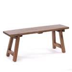 "Bench ""LOG HOUSE 90"" | mahogany, 90x37cm(WxH) | wooden bench"