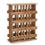 "Wine rack ""LOG HUT 78"" | 78x60x25cm(HxWxD), wood | bottle holder"