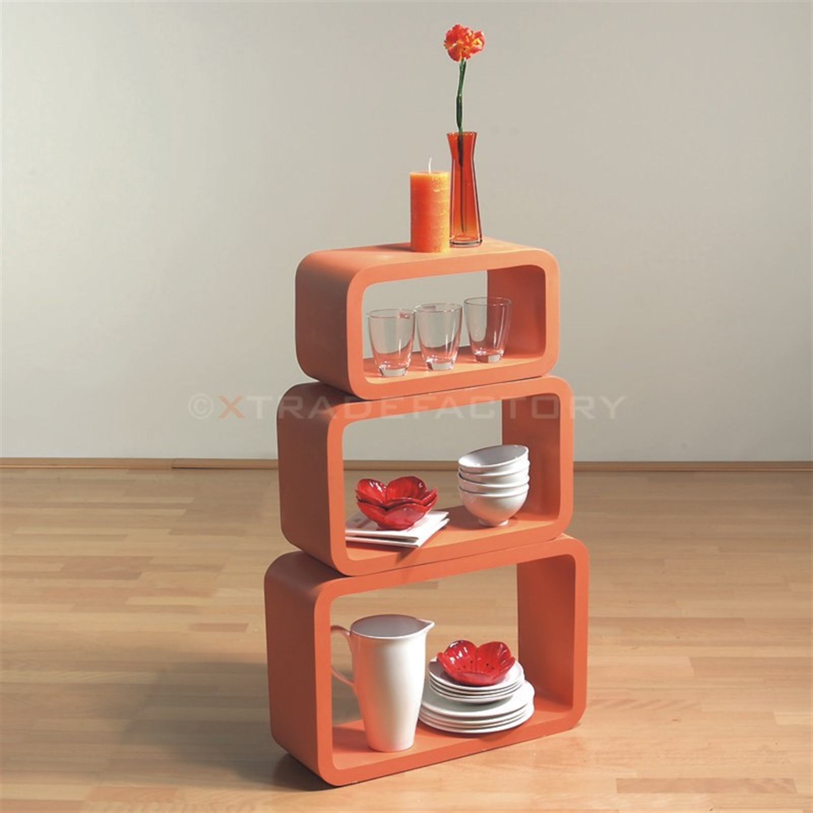lounge regal set oval cube 3 teilig wei space age retro cuben deko. Black Bedroom Furniture Sets. Home Design Ideas