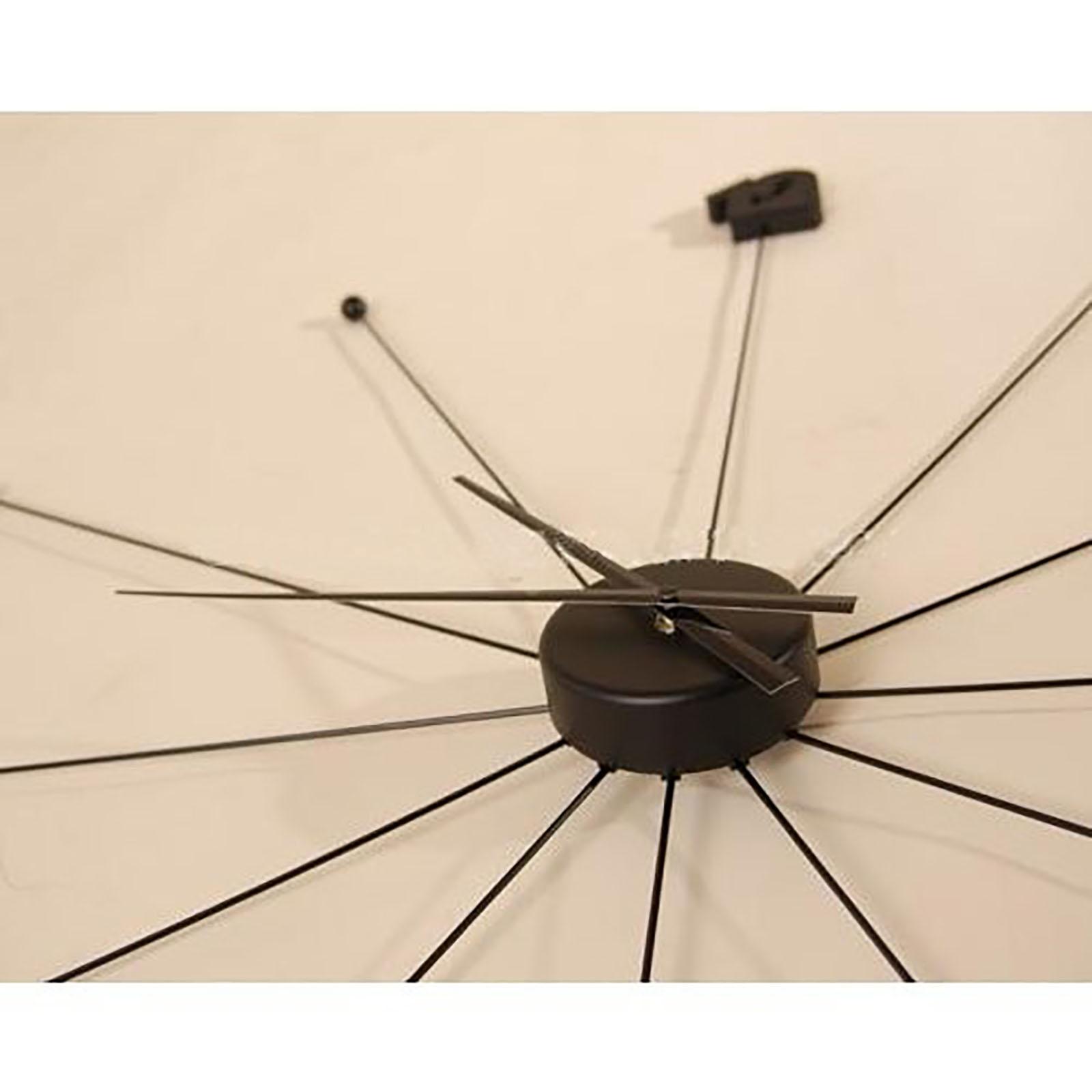 Riesige design wanduhr umbrella 99cm schwarz - Design wanduhr ...