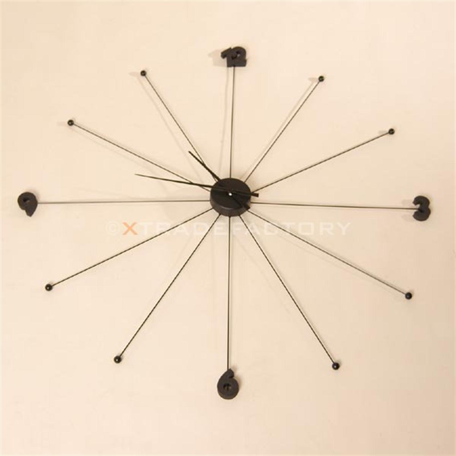 grosse filigrane design wanduhr 99 cm uhr schwarz. Black Bedroom Furniture Sets. Home Design Ideas