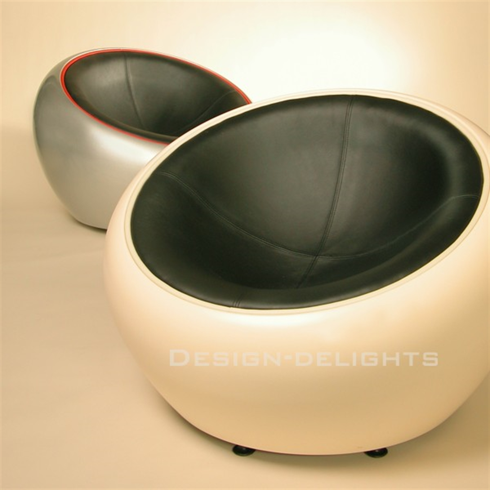 Great Image Is Loading RETRO LOUNGE EGG CHAIR Red Black Bowl Lounge
