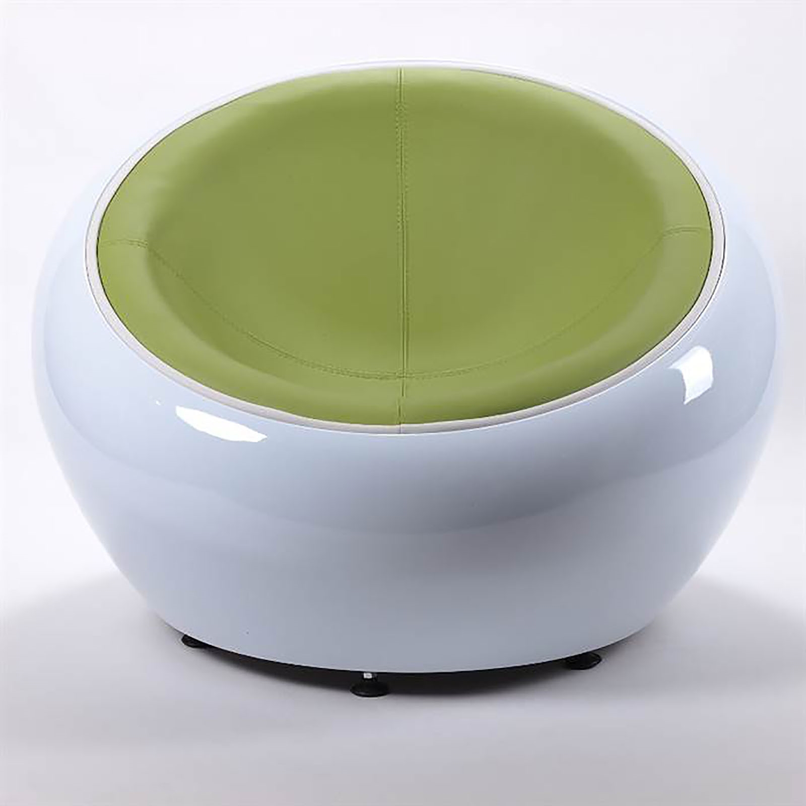 retro lounge egg chair white green bowl lounge design stool shell ebay. Black Bedroom Furniture Sets. Home Design Ideas