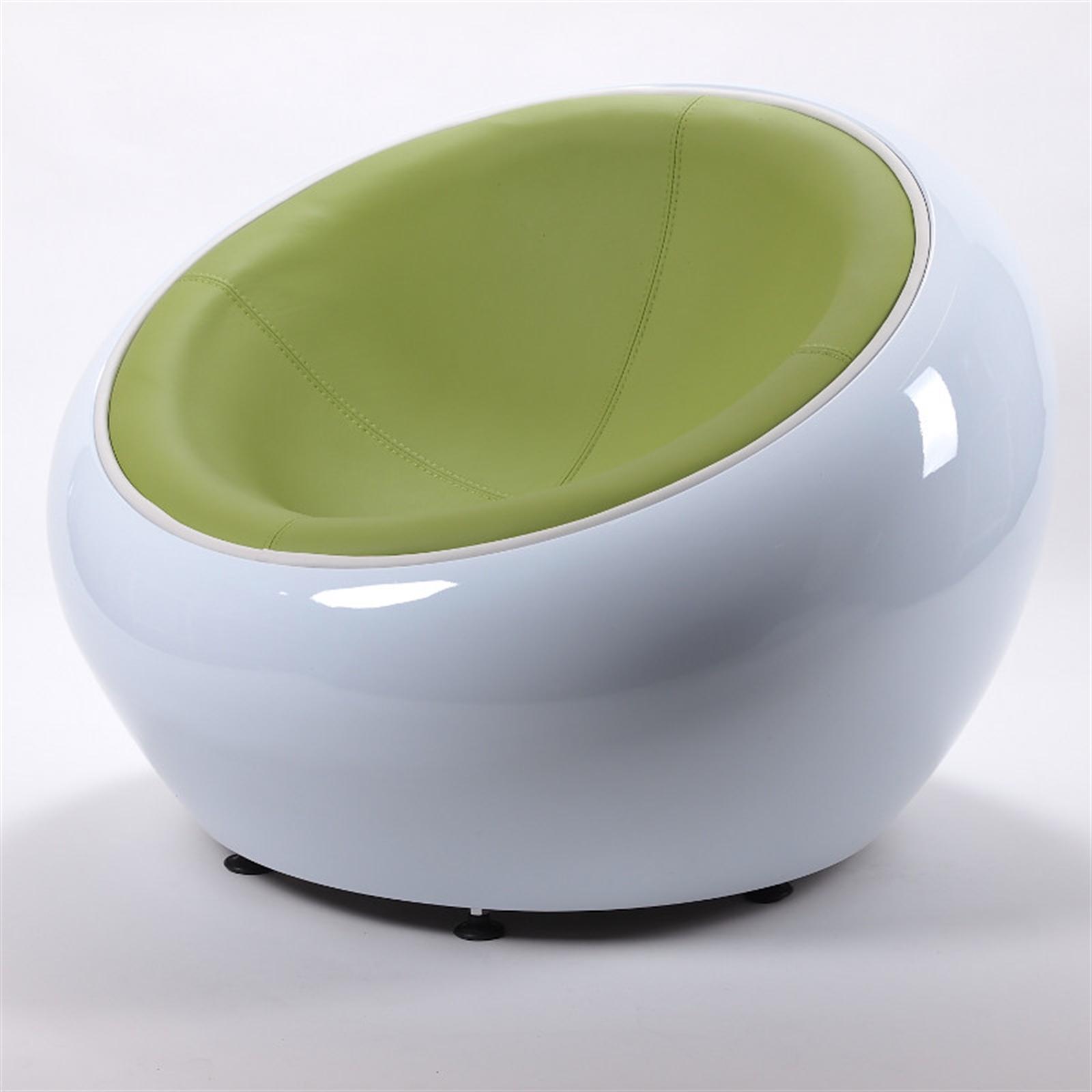 1 of 6 RETRO LOUNGE EGG CHAIR   white-black   bowl lounge design stool shell & RETRO LOUNGE EGG CHAIR   white-black   bowl lounge design stool ...