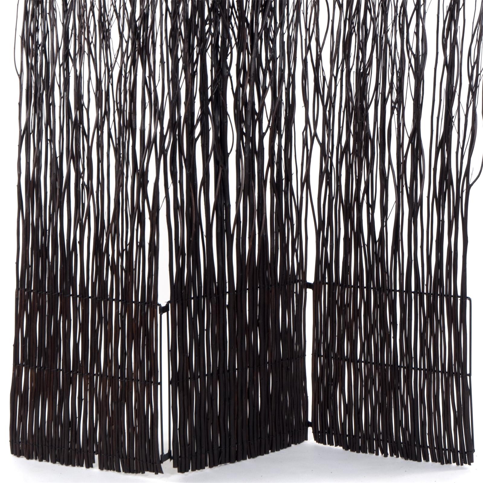 willow wood room divider nature folding partition brown. Black Bedroom Furniture Sets. Home Design Ideas