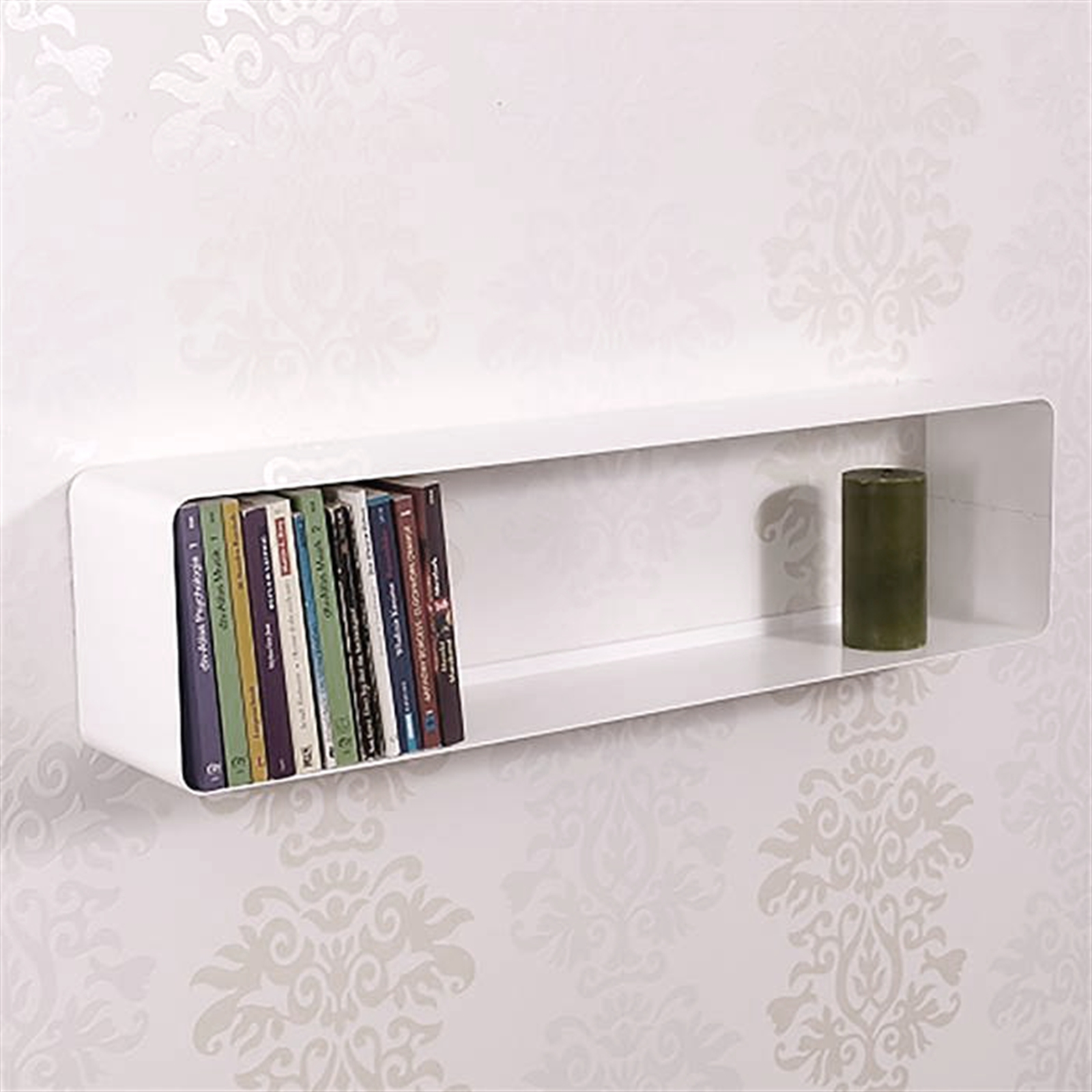 retro design dvd blu ray shelf cube 31 metal white lounge wall rack ebay. Black Bedroom Furniture Sets. Home Design Ideas