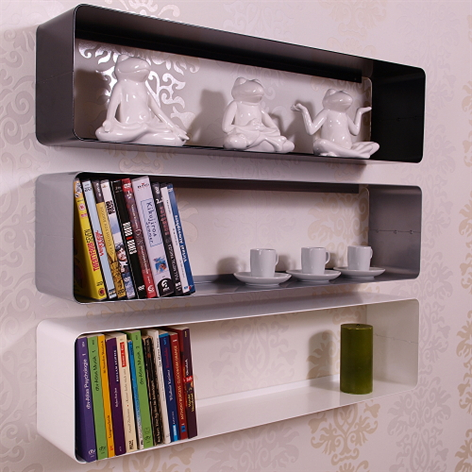 retro design dvd blu ray shelf cube 31 metal silver. Black Bedroom Furniture Sets. Home Design Ideas
