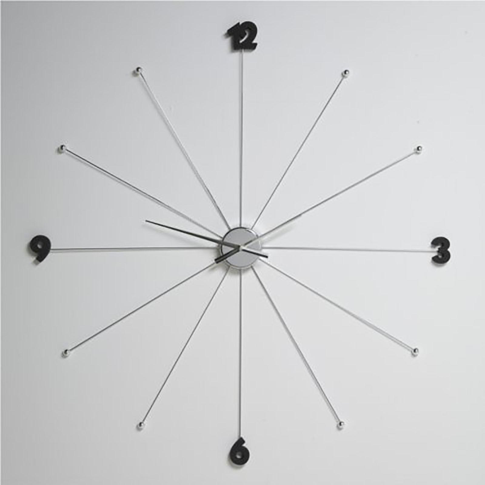 grosse design wanduhr 99cm uhr k chenuhr silber. Black Bedroom Furniture Sets. Home Design Ideas