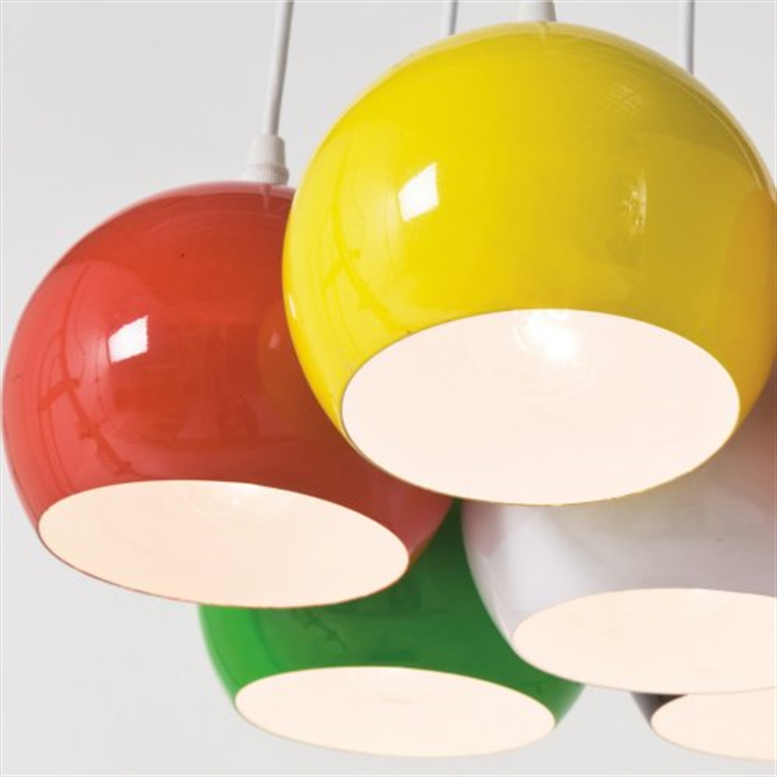Design h ngeleuchte 7 kugeln lampe calotta bunt h ngelampe for Design hangeleuchte