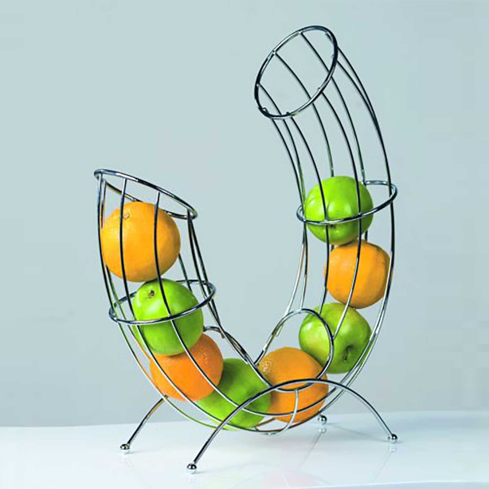 DESIGN FRUIT BASKET PIPE | silver, chromed wire | bowl, fruit basket ...