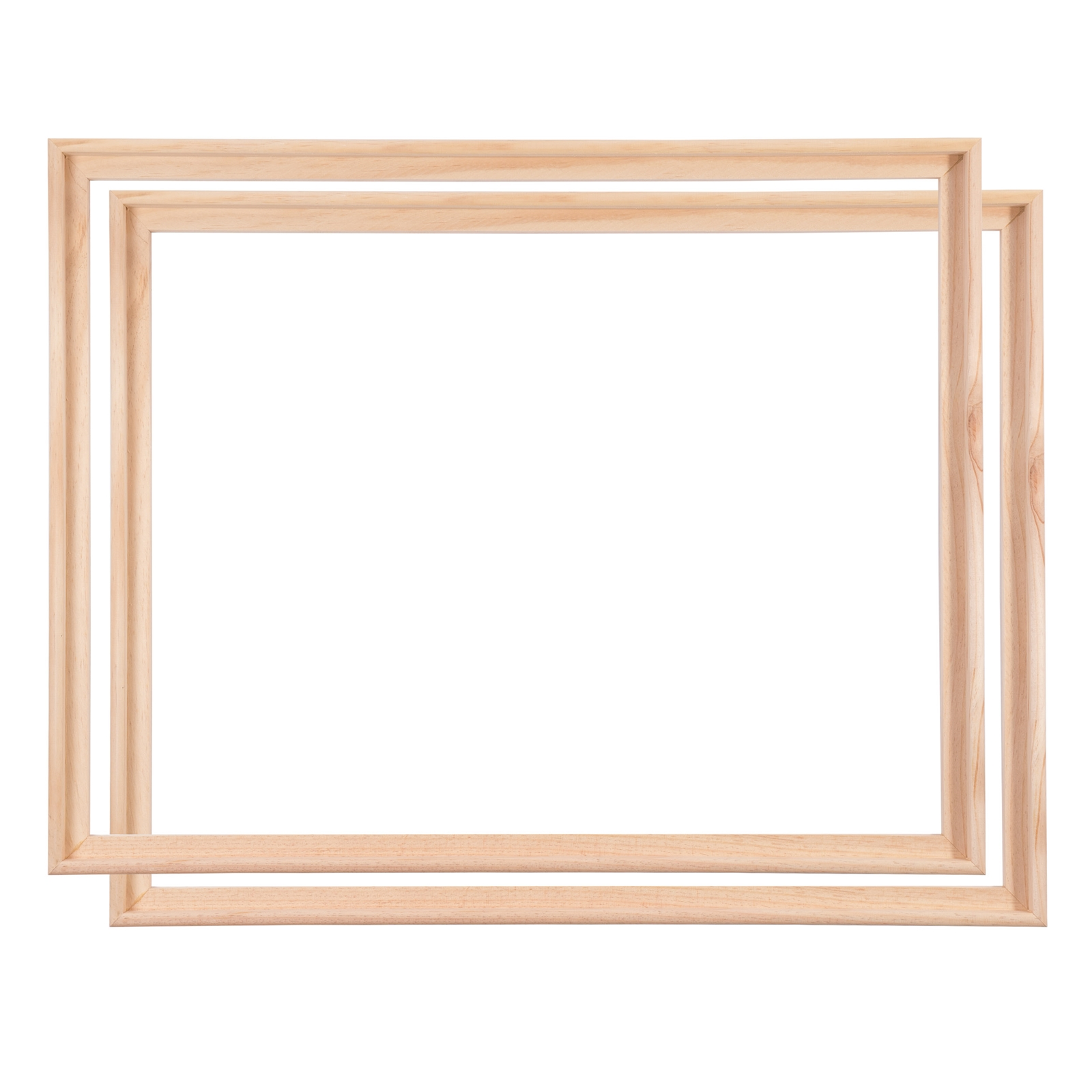 2 wooden canvas floater frames 70x100cm shadow box for stretched canves 4250371508957 ebay. Black Bedroom Furniture Sets. Home Design Ideas
