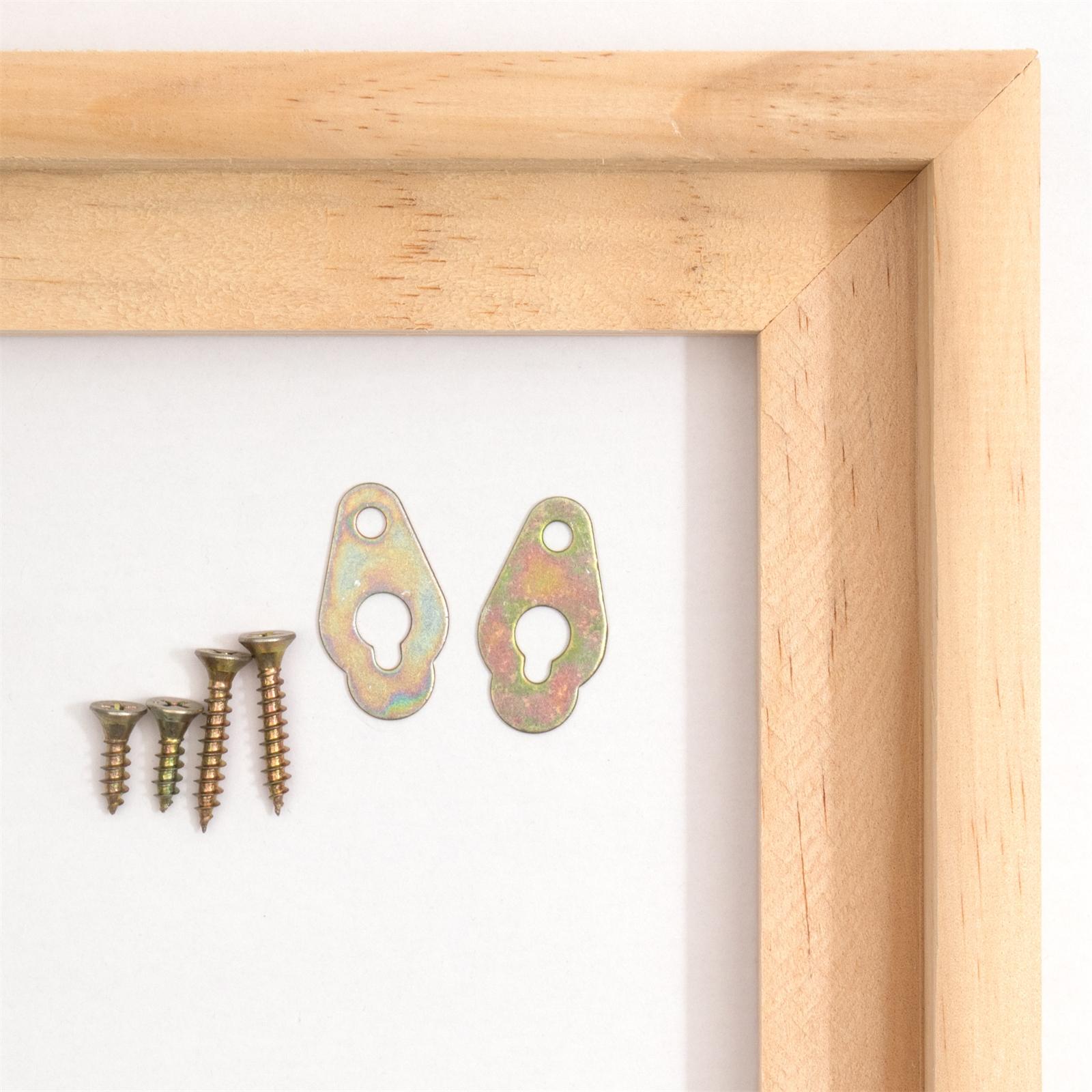 2 Ombre joints barres bois cadre photo pour toiles /& Châssis 50 x 70 cm