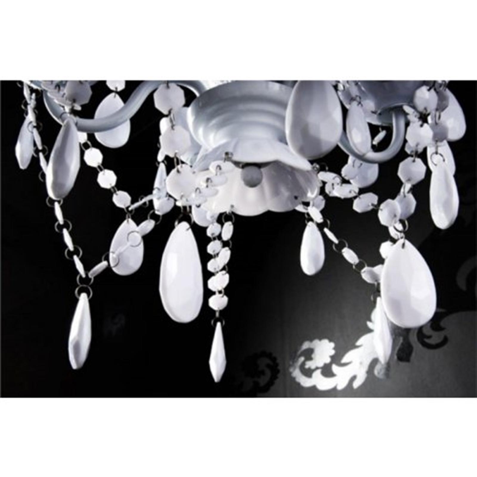 3 Von 6 DESIGNER KRONLEUCHTER POMP | Acryl Schwarz, 5 Armig, Ø37cm | Luxus  Deckenleuchte