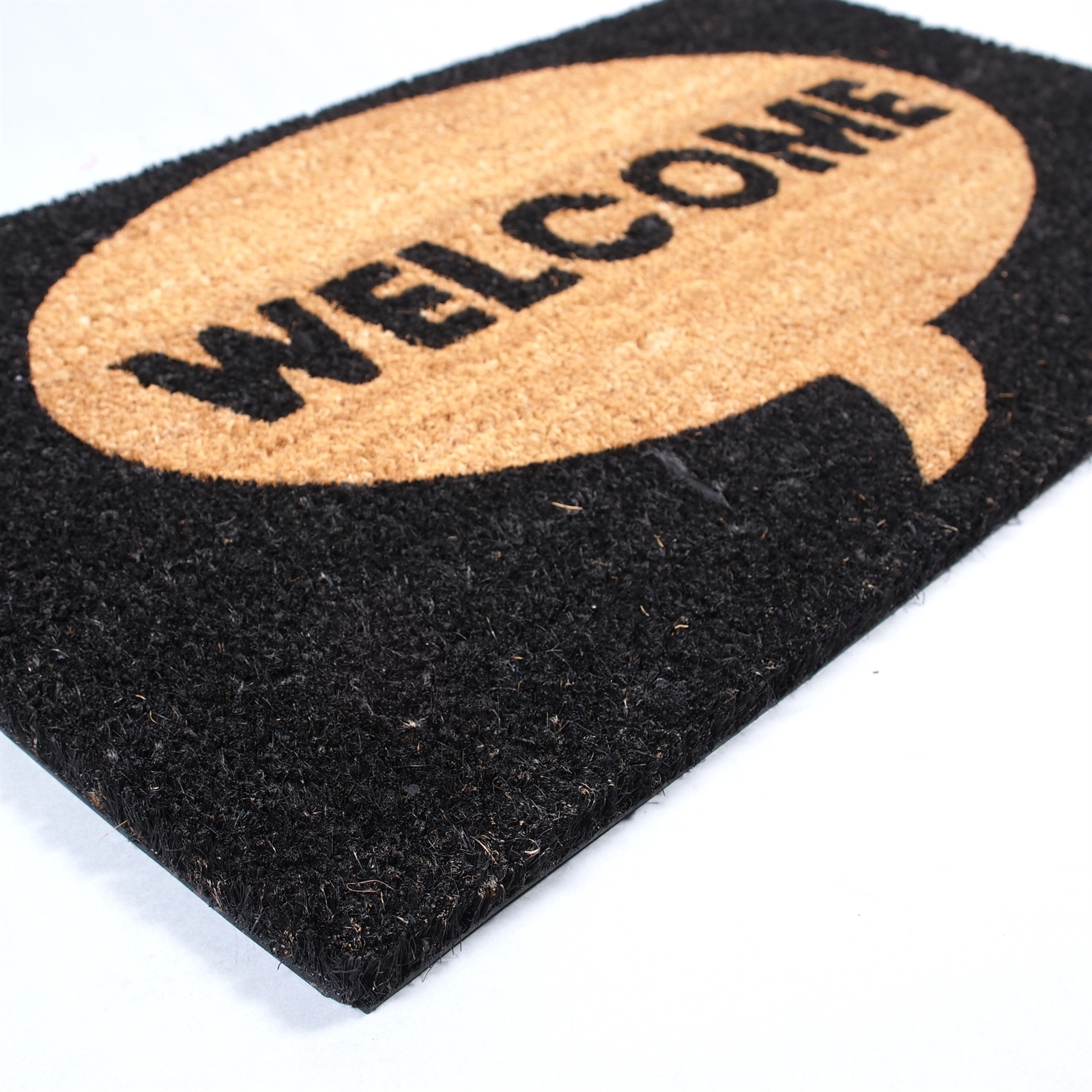 big door mat welcome carpet floor coir rug 100 coconut. Black Bedroom Furniture Sets. Home Design Ideas