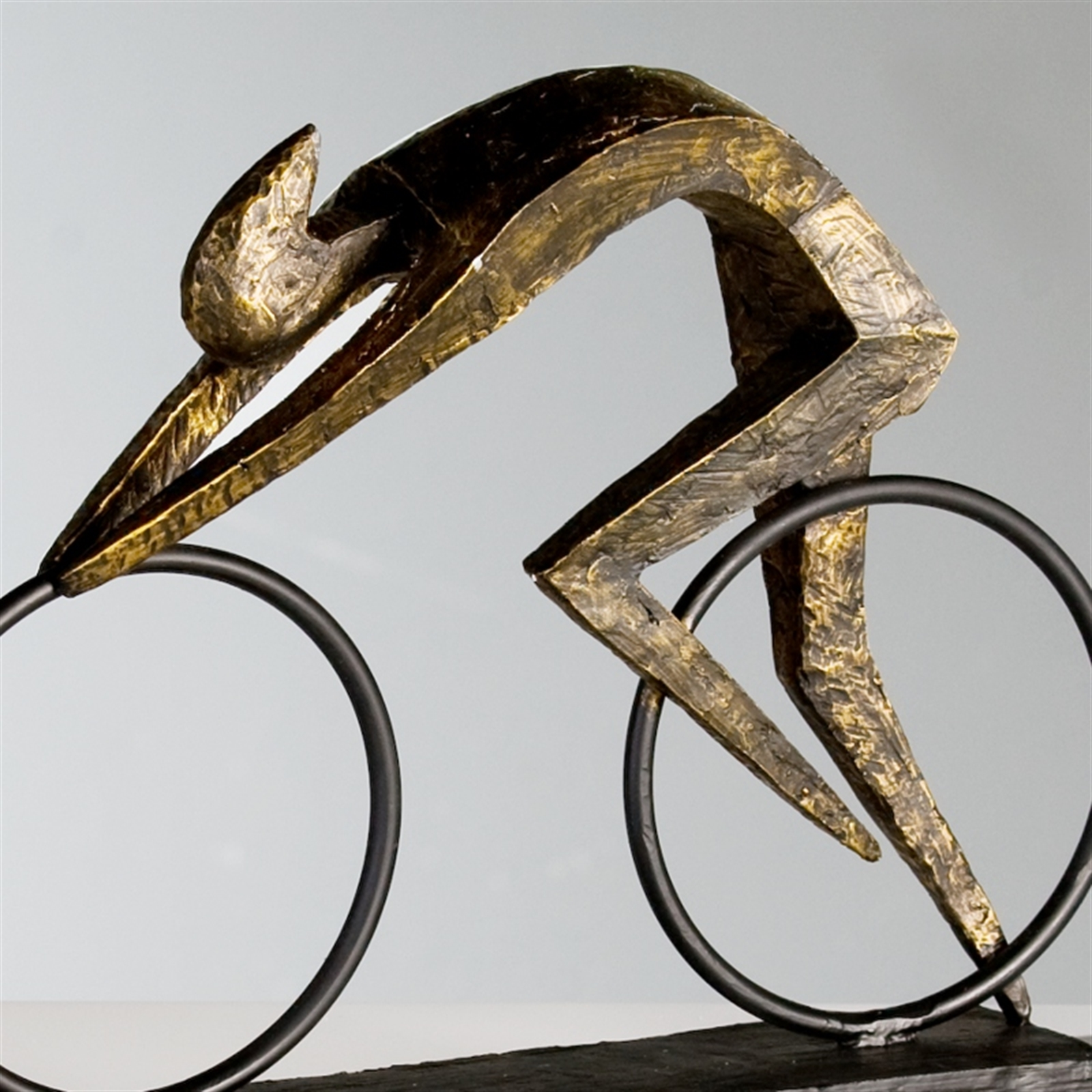 design sculpture racer bronze decoration figure. Black Bedroom Furniture Sets. Home Design Ideas