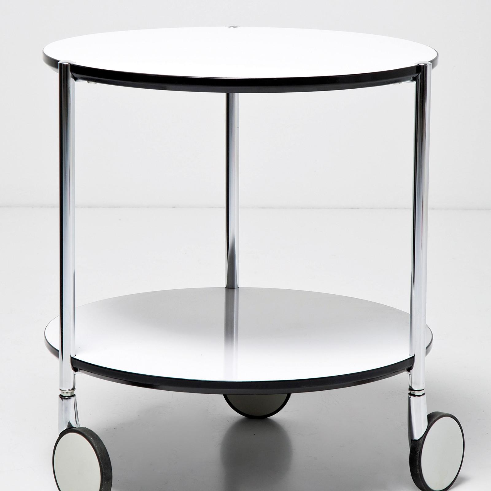 edler beistelltisch doppio dia 40cm mit rollen wei design couchtisch ebay. Black Bedroom Furniture Sets. Home Design Ideas