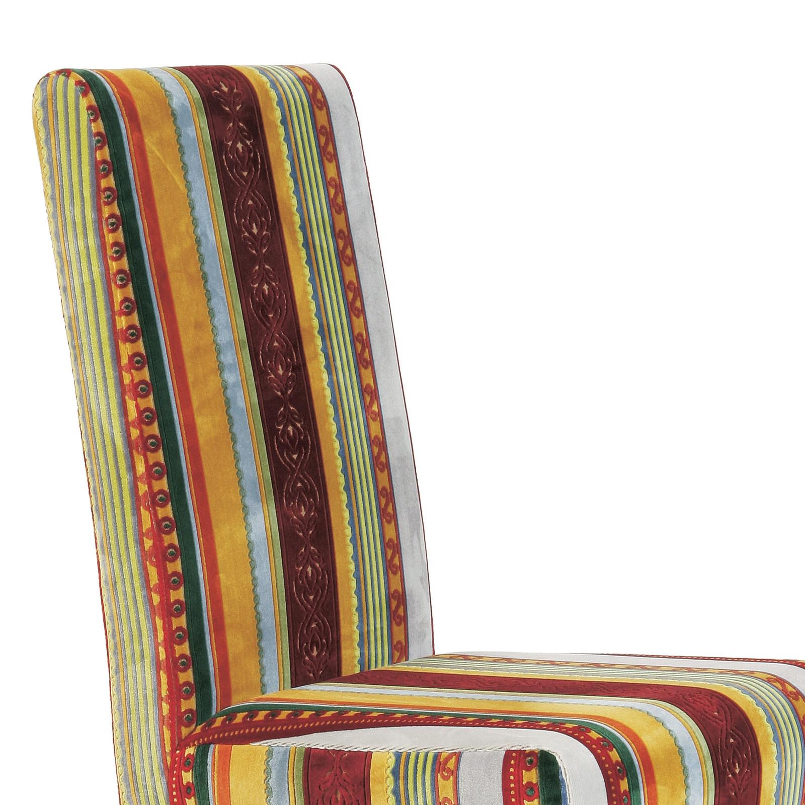 eleganter design stuhl britain k chenstuhl esszimmerstuhl mit streifenmuster ebay. Black Bedroom Furniture Sets. Home Design Ideas