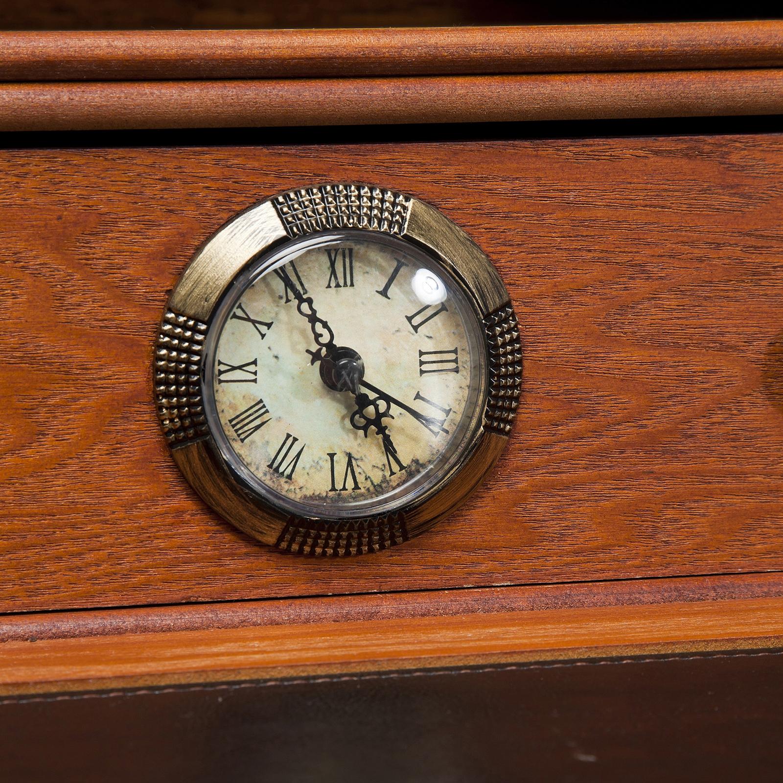 Design holz sekret r colonial schreibtisch computertisch for Holz computertisch