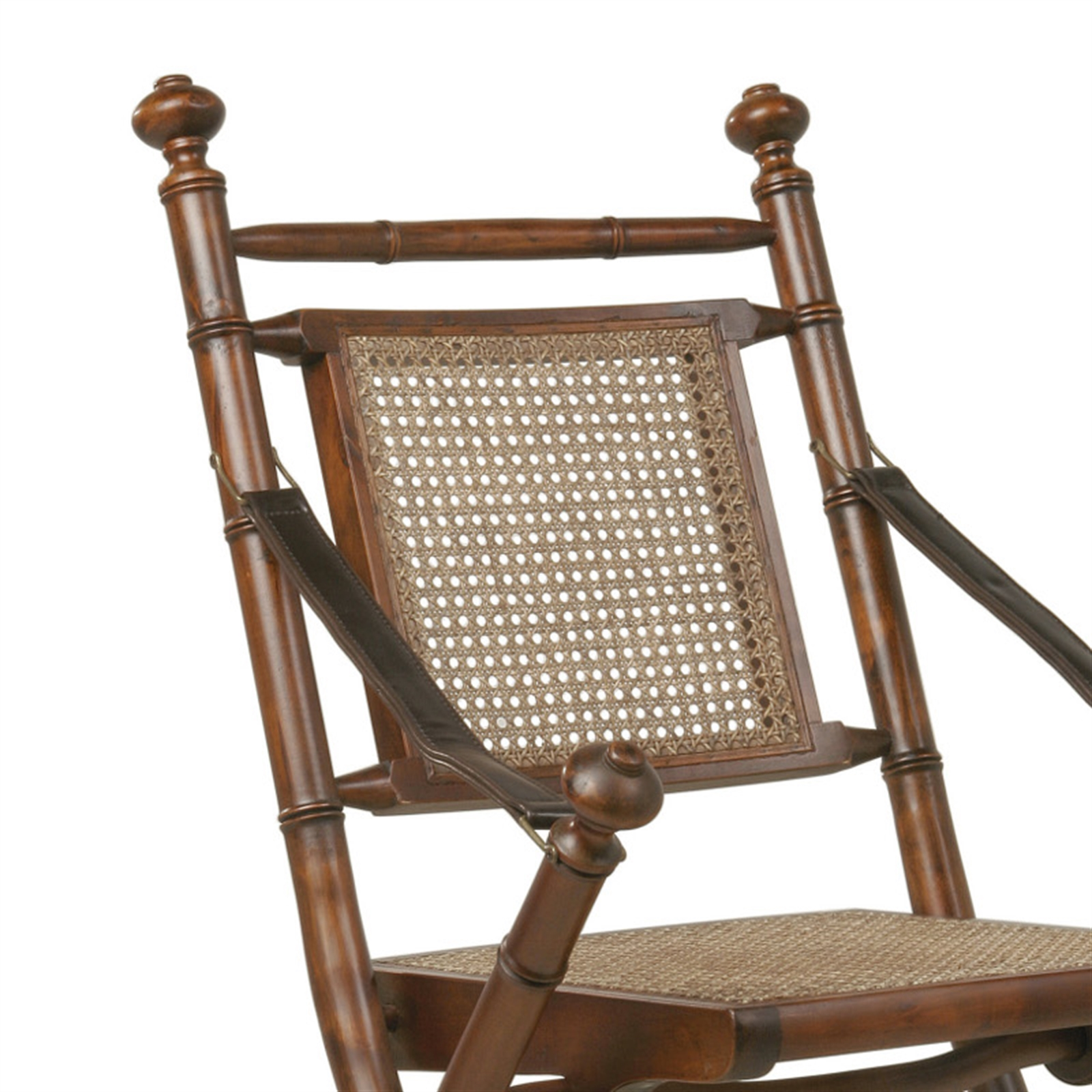 design holz klappstuhl colonial schreibtischstuhl rattan dunkelbraun ebay. Black Bedroom Furniture Sets. Home Design Ideas