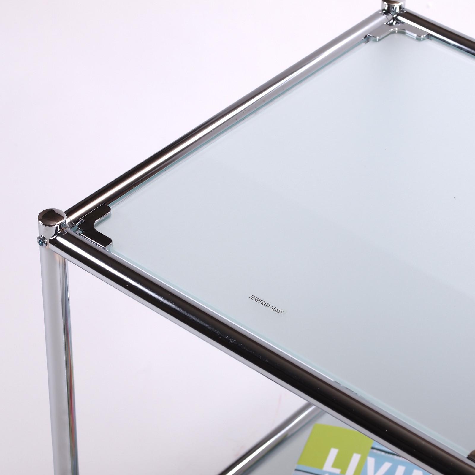 design beistelltisch style 40x40cm glas wohnzimmertisch aktenschrank weiss ebay. Black Bedroom Furniture Sets. Home Design Ideas