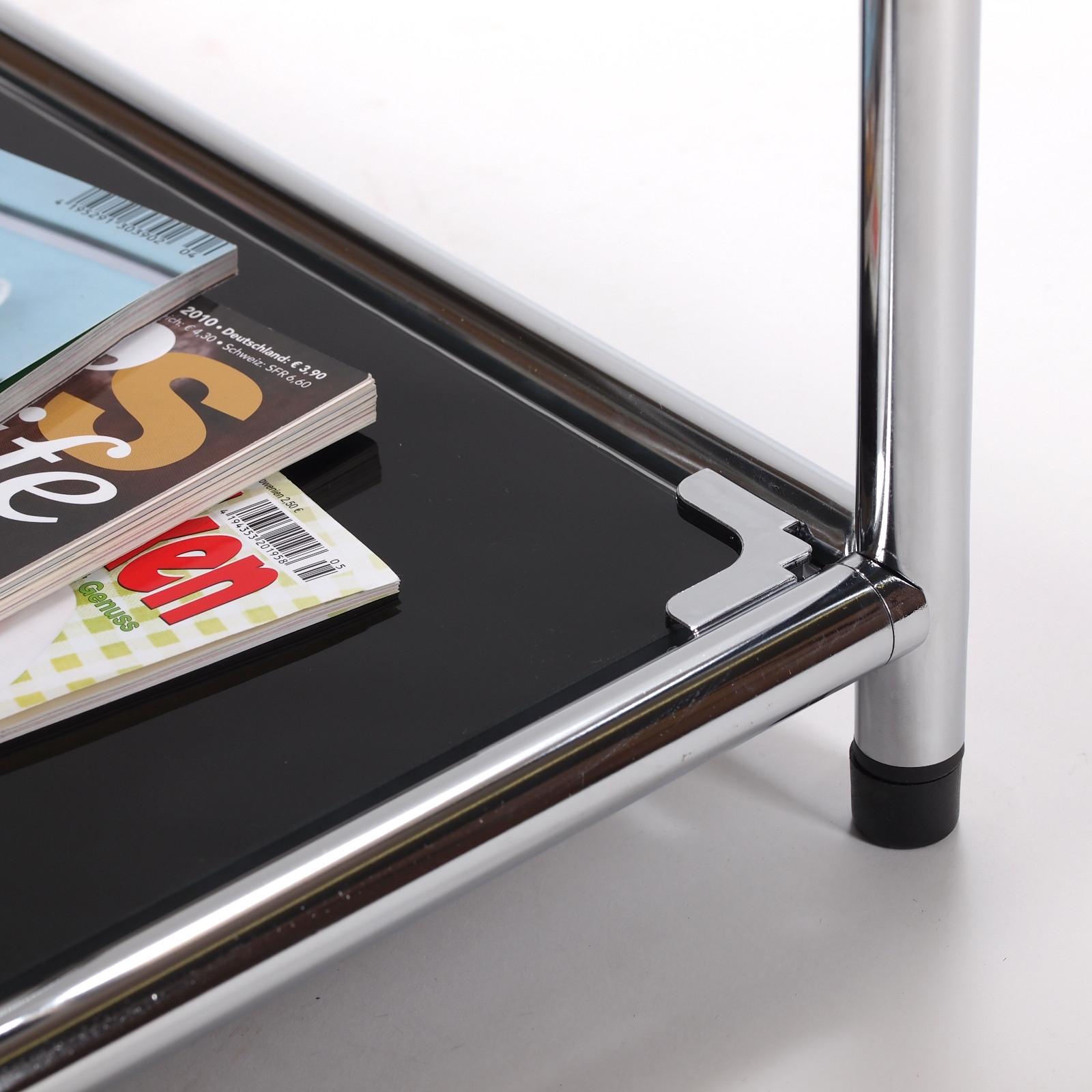 design beistelltisch style 40x40cm glas wohnzimmertisch aktenschrank schwarz eur 79 95. Black Bedroom Furniture Sets. Home Design Ideas