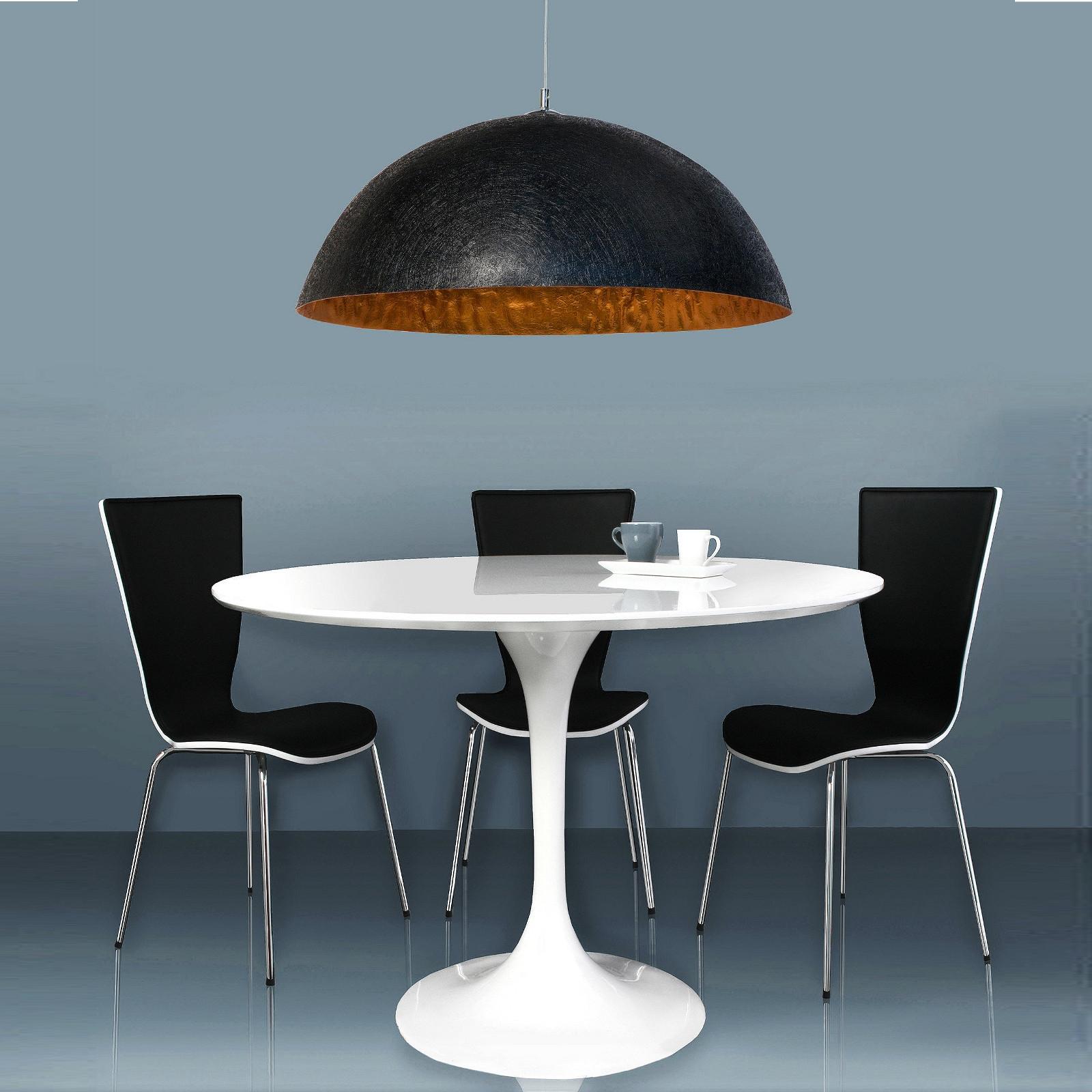 designer h ngeleuchte moonrise 50cm schwarz gold h ngelampe pendelleuchte ebay. Black Bedroom Furniture Sets. Home Design Ideas