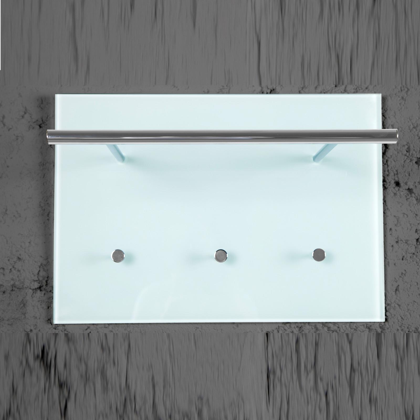 edle design wandgardeobe azzaretti glas chrom wandhaken garderobe modern. Black Bedroom Furniture Sets. Home Design Ideas