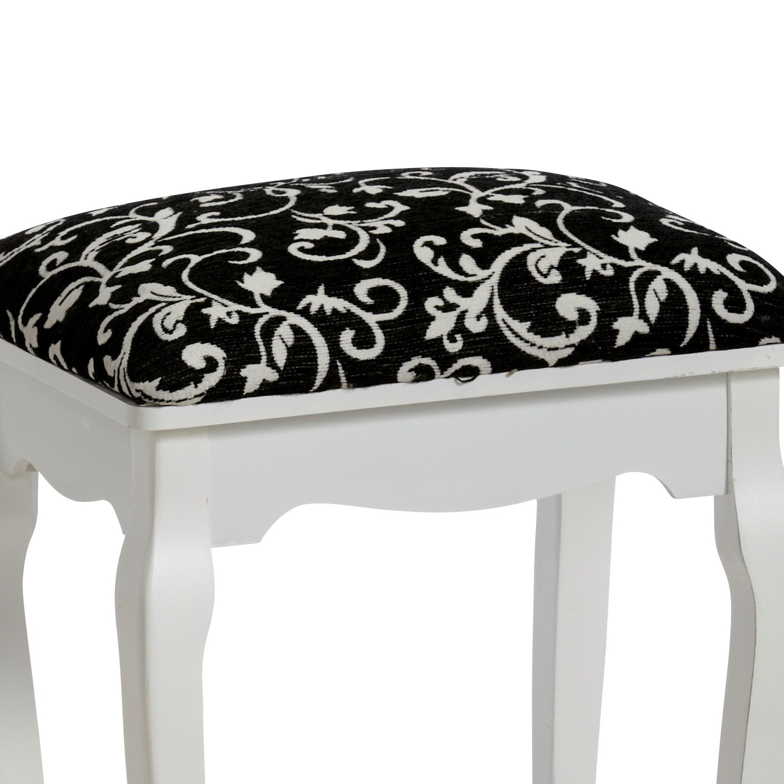 "ELEGANT STOOL ""BAROQUE"" white"
