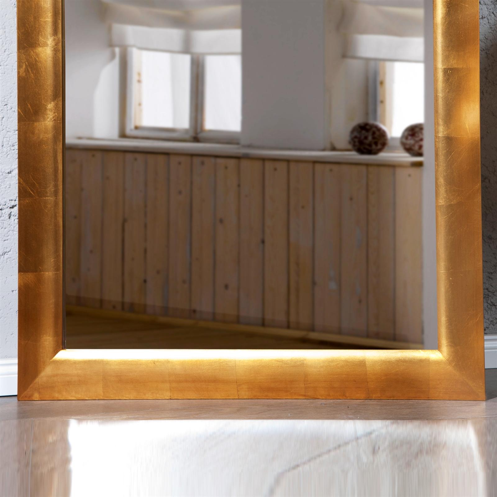 gro er spiegel eleganza wandspiegel 190 x 90 cm gold ebay. Black Bedroom Furniture Sets. Home Design Ideas
