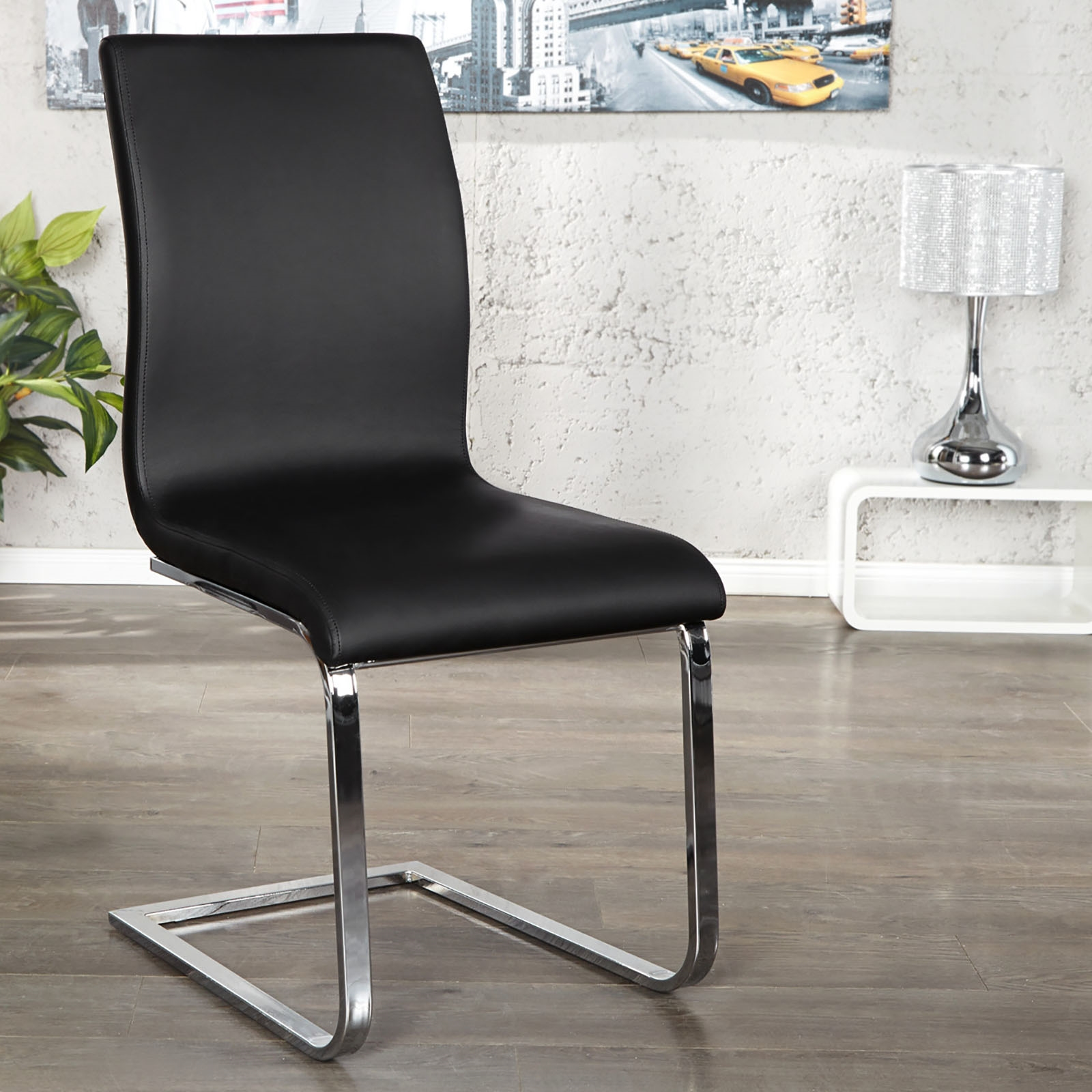 Furniture gt see more elegant cantilever quot linea quot dining chair with l