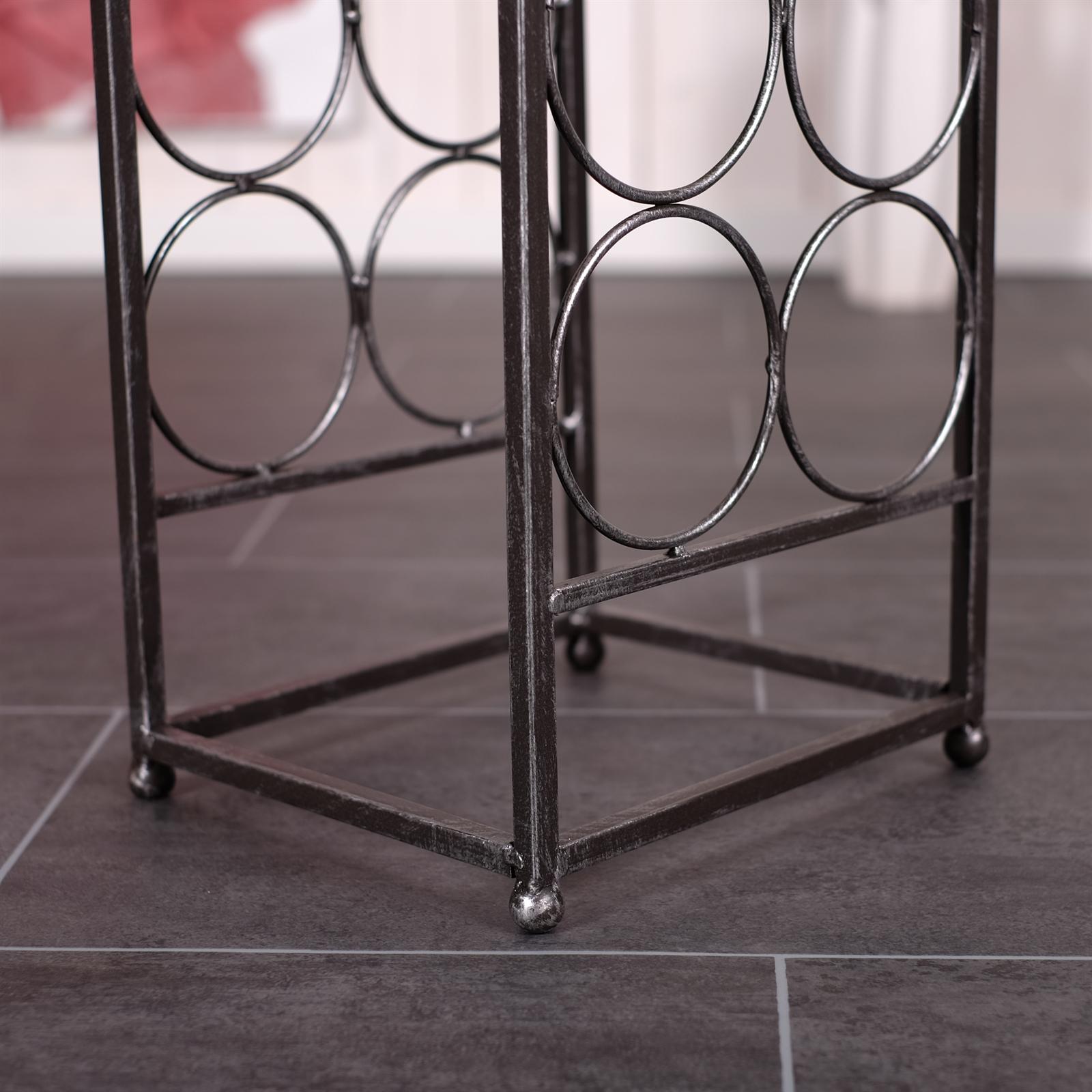 stilvolles weinregal provence 78cm metall 12. Black Bedroom Furniture Sets. Home Design Ideas