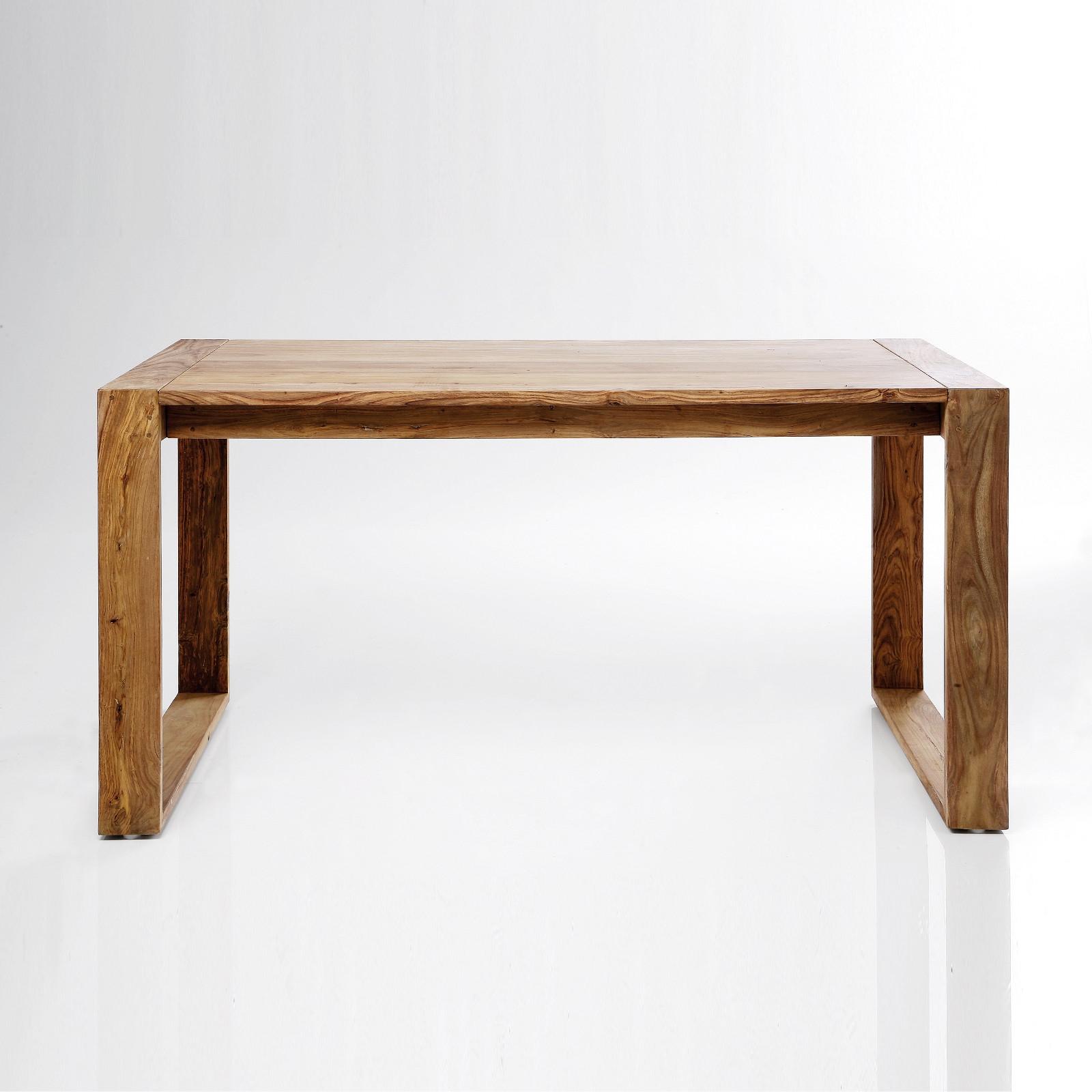 Design schreibtisch natura 150cm sheesham massivholz for Schreibtisch x factory