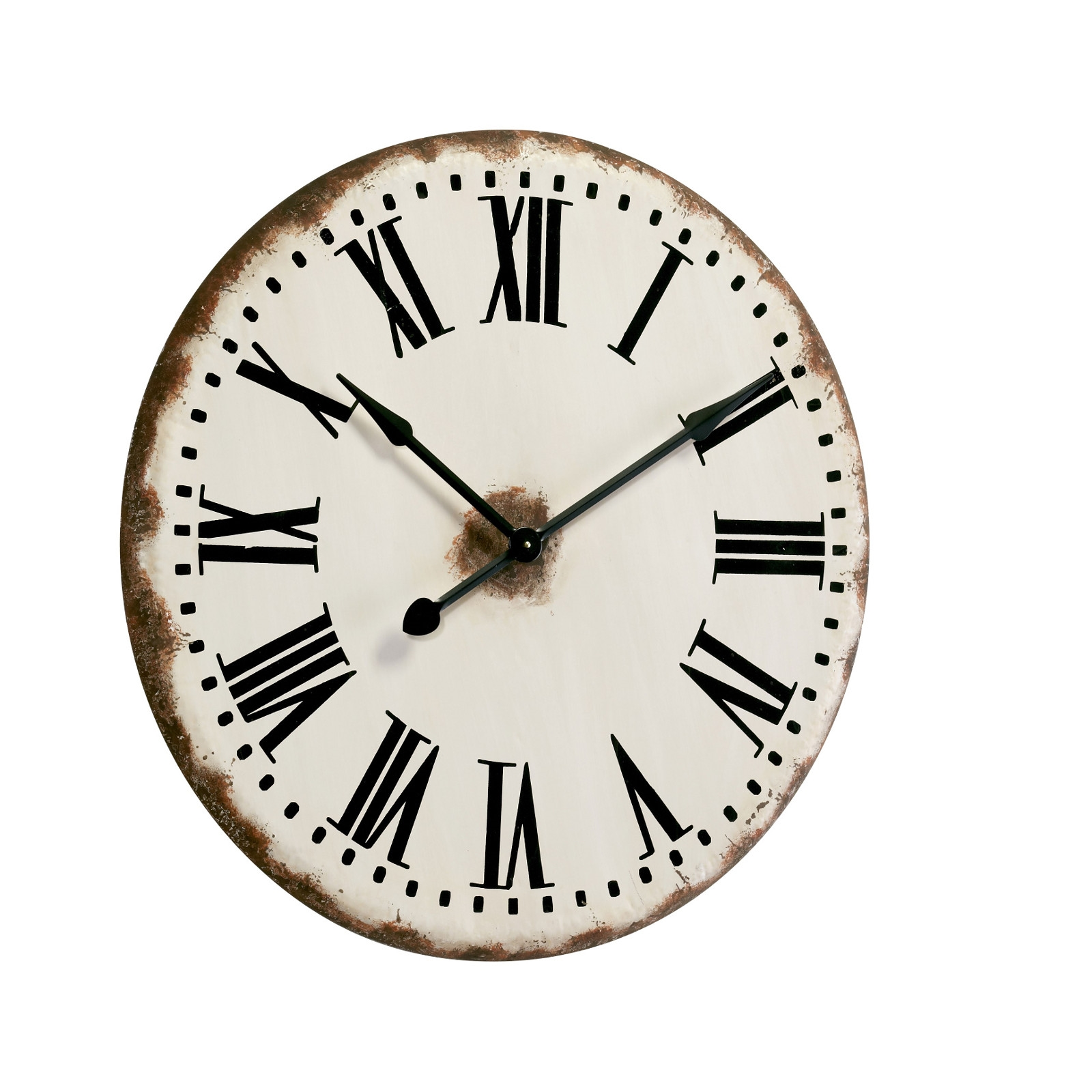 Vintage design metal train station clock o82cm wall for Train station style wall clock