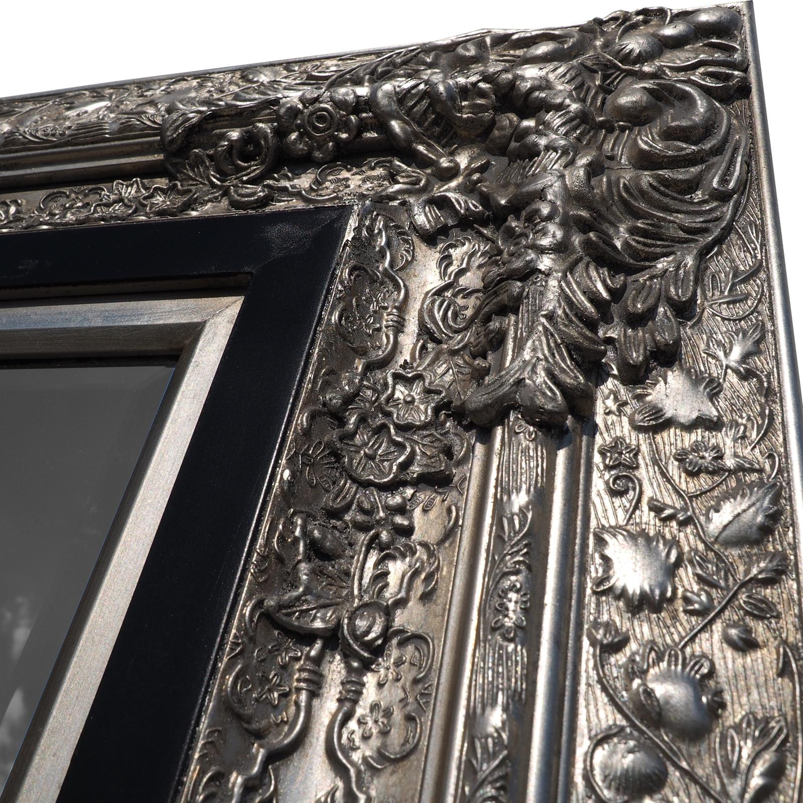 grosser barock wandspiegel laura silber 101x191cm edler ankleidespiegel eur 299 00. Black Bedroom Furniture Sets. Home Design Ideas