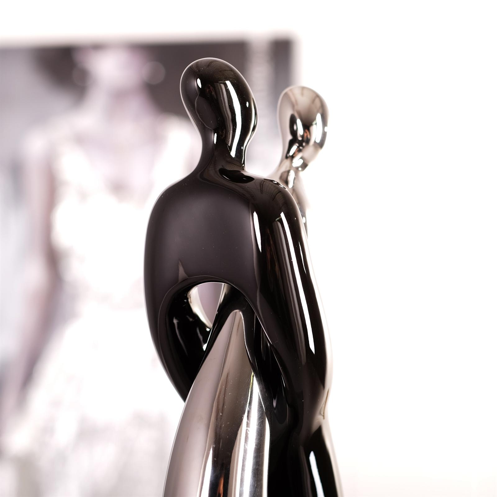 Deko skulpturen silber design skulptur unique circle deko for Dekofiguren modern