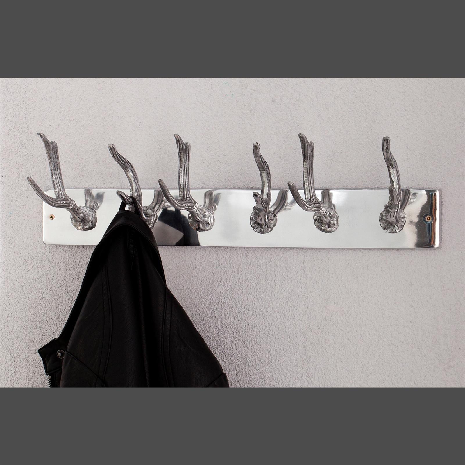 originelle wandgarderobe antler garderobe mit 6 geweih haken silber eur 29 95 picclick de. Black Bedroom Furniture Sets. Home Design Ideas