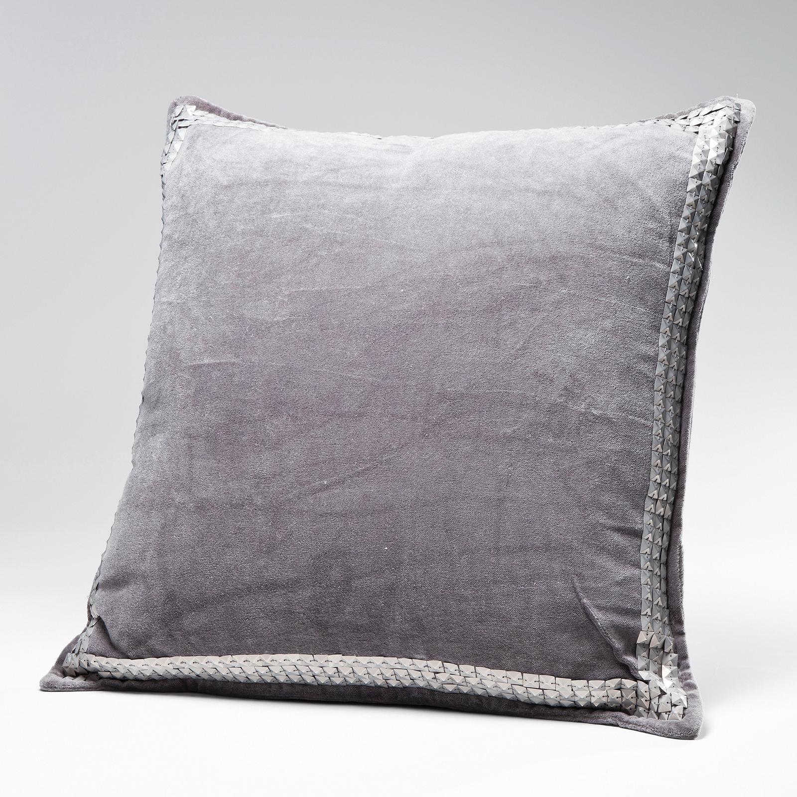 glamour kissen mit pailletten 45 x 45 cm zierkissen grau ebay. Black Bedroom Furniture Sets. Home Design Ideas