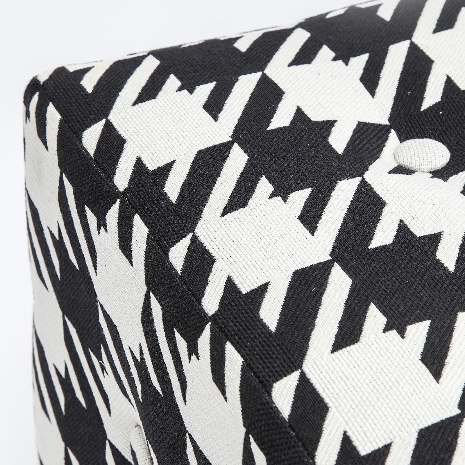 design sitzw rfel josefa schwarz wei es pepita muster. Black Bedroom Furniture Sets. Home Design Ideas